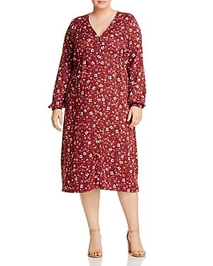 Junarose Plus Mauda Floral Button-Front Dress