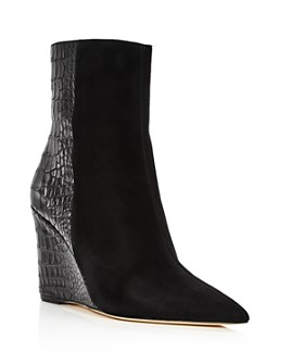 Giuseppe Zanotti - Women's Mixed Media Wedge Heel Booties
