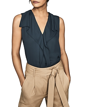 Reiss Tops KEELEY DRAPED SLEEVELESS TOP