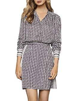 REISS - Aidy Mixed Paisley Mini Dress