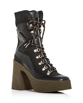 Stella McCartney - Women's Stivale Square-Toe Platform Hiker Boots