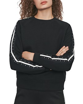 Maje - Tosko Striped & Studded Sweatshirt