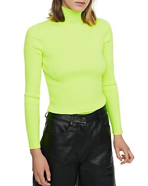 Maje Sweaters MALANGA RIBBED TURTLENECK SWEATER