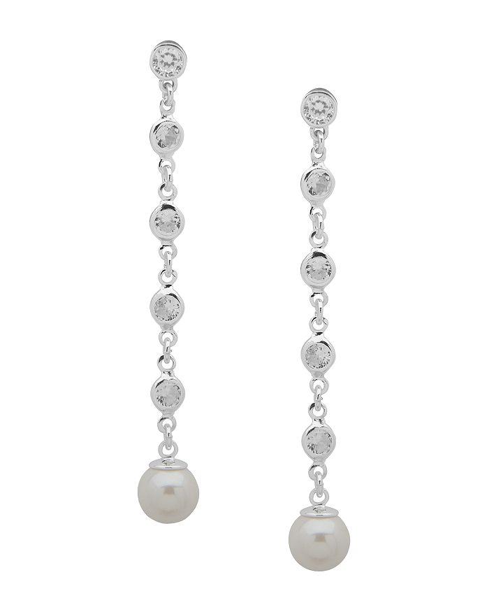 Ralph Lauren - Simulated Pearl Linear Drop Earrings
