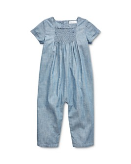 Ralph Lauren - Girls' Smocked Chambray Coverall - Baby