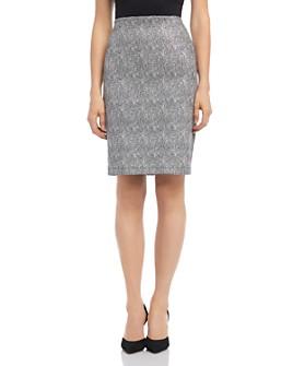 Karen Kane - Metallic Jacquard Pencil Skirt