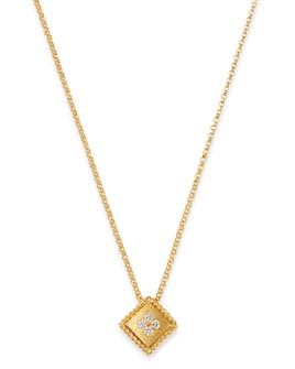 Roberto Coin - 18K Yellow Gold Palazzo Ducale Diamond Pendant Necklace, 18""