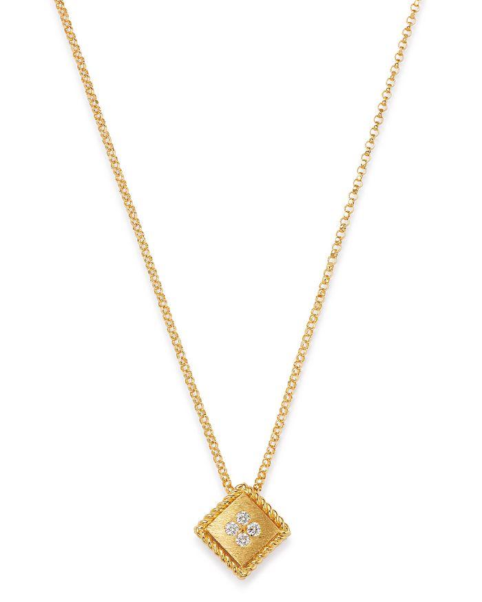 "Roberto Coin - 18K Yellow Gold Palazzo Ducale Diamond Pendant Necklace, 18"""