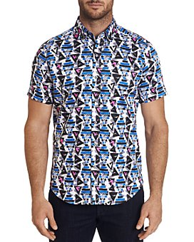 Robert Graham - Full House Printed Short-Sleeve Classic Fit Button-Down Shirt - 100% Exclusive