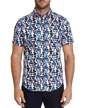 Robert Graham Full House Printed Short-Sleeve Classic Fit Button-Down Shirt - 100% Exclusive