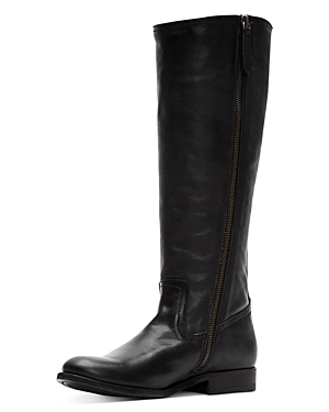 Frye Boots WOMEN'S MELISSA STUD LEATHER TALL BOOTS