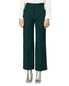 Sandro - Khol Side-Stripe Wide-Leg Pants