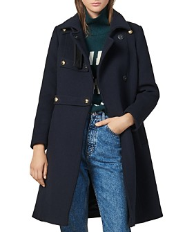 Sandro - Office Wool-Blend A-Line Coat