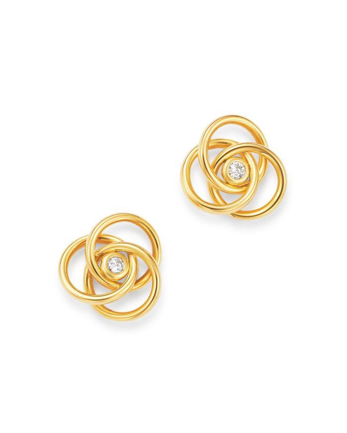 Bloomingdale's Diamond Knot Stud Earrings in 14K Yellow Gold - 100% Exclusive    Bloomingdale's