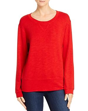 Monrow T-shirts ROUND-NECK SWEATSHIRT