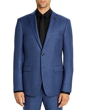John Varvatos Star Usa Bleecker Melange Solid Slim Fit Suit Jacket