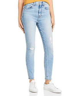 7 For All Mankind - High Waist Ankle Skinny Jeans in Vail