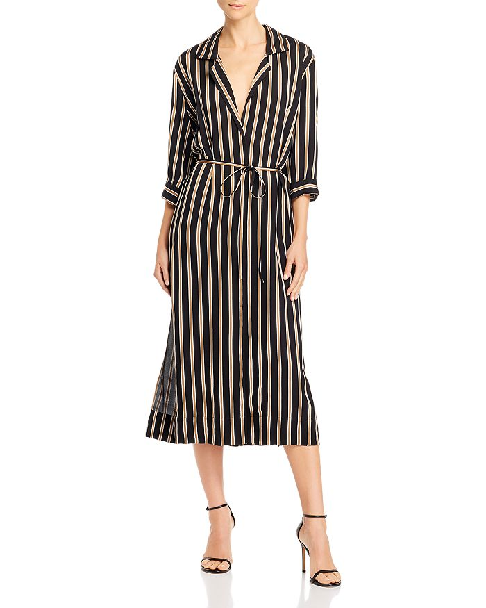 7 For All Mankind - Striped Midi Dress