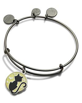 Alex and Ani - Black Cat Expandable Charm Bracelet