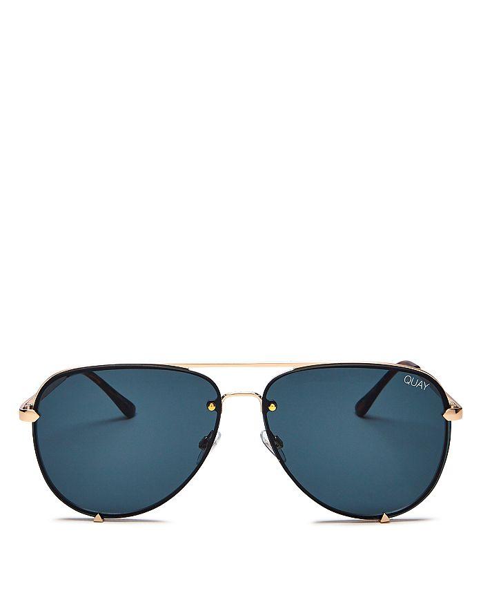 Quay - Women's High Key Rimless Aviator Sunglasses, 53mm