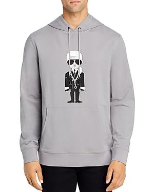 Karl Lagerfeld Paris Karl Necklace Hooded Sweatshirt-Men