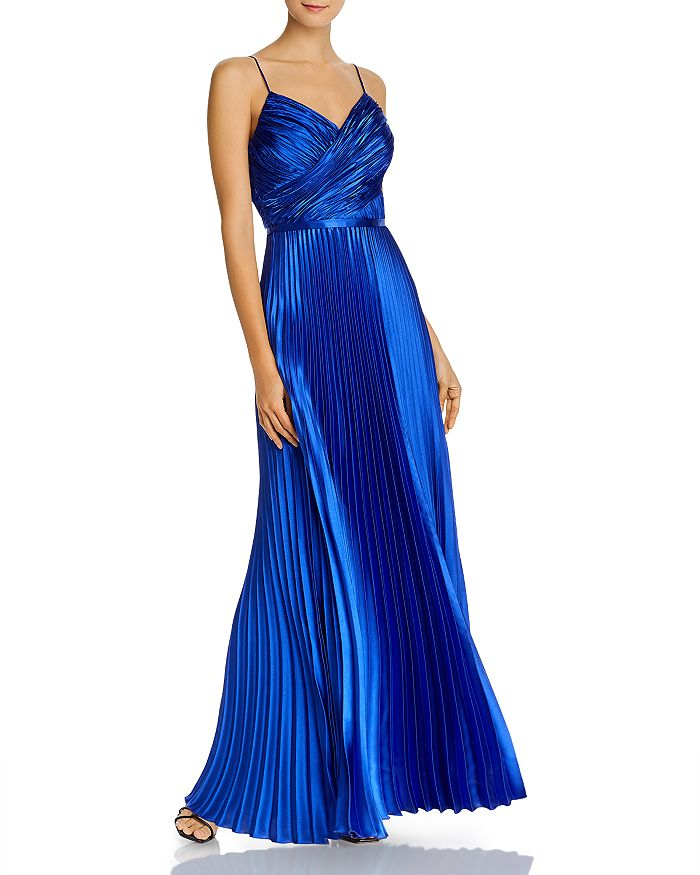 AQUA - Pleated Charmeuse Gown - 100% Exclusive