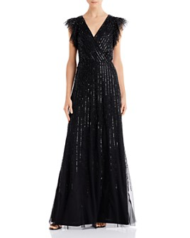 Adrianna Papell - Embellished Tulle Gown