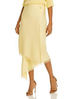 ÁERON - Hazel Frayed-Hem Wrap Skirt