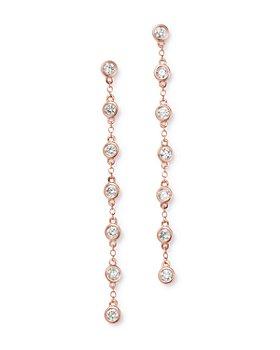 Bloomingdale's - Bezel Set Diamond Drop Earrings in 14K Rose Gold, 1.0 ct. t.w. - 100% Exclusive