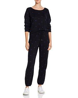 Splendid - Embroidered Sweatshirt & Jogger Pants