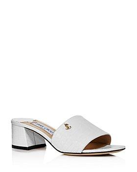 Jimmy Choo - Women's Minea 45 Croc-Embossed Mule Sandals