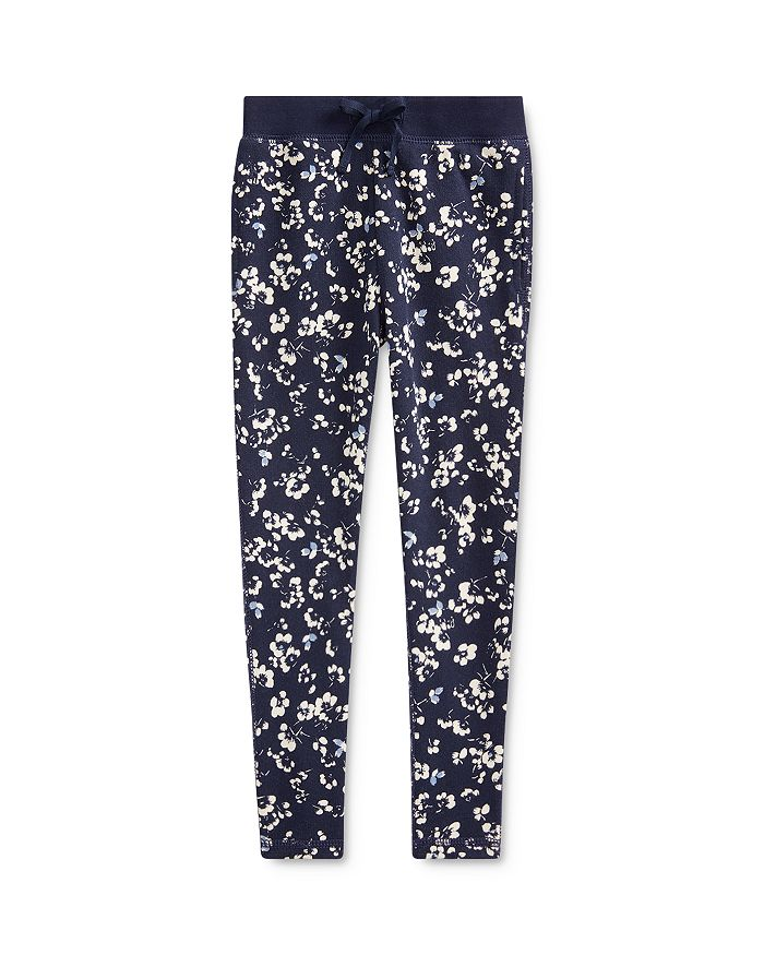 Ralph Lauren - Girls' Floral Print Terry Pants - Little Kid