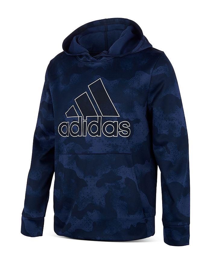 Adidas - Boys' Camo Print Logo Hoodie - Big Kid