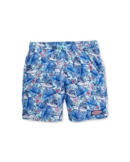 Vineyard Vines - Boys' Floral & Boat Print Chappy Trunks - Little Kid, Big Kid