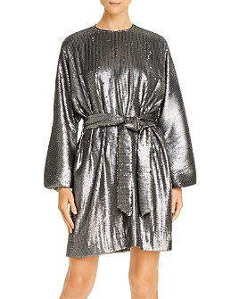 Anine Bing - Angie Balloon-Sleeve Matte Sequin Dress
