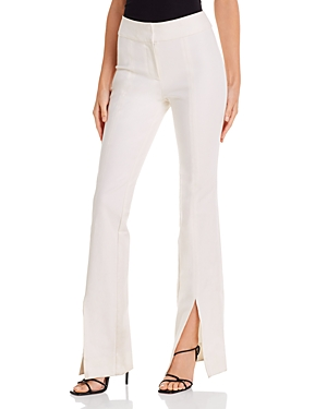 Derek Lam 10 Crosby Pants MAEVE SLIT-HEM FLARED PANTS