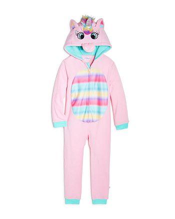 US Angels - Girls' Unicorn One-Piece Pajamas - Little Kid, Big Kid