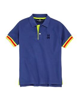 Psycho Bunny - Boys' Savoy Neon-Trim Polo Shirt - Little Kid, Big Kid