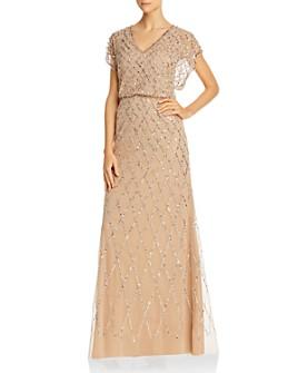 Adrianna Papell - Embellished Blouson Dress