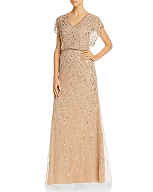 Vintage 1920s Dresses – Where to Buy Adrianna Papell Embellished Blouson Dress AUD 307.52 AT vintagedancer.com