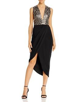 SAU LEE - Mila Leopard-Sequined Dress