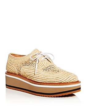 Clergerie - Women's Birdie Woven Wedge Platform Oxfords