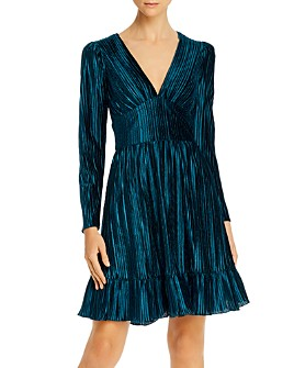 Shoshanna - Laine Pleated Velvet Dress