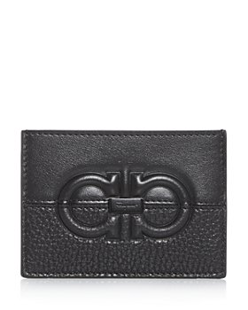 Salvatore Ferragamo - Firenze Embossed & Plain Leather Card Case