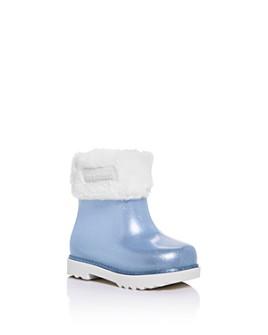 Mini Melissa - Girls' Faux Fur Glitter Winter Boots - Walker, Toddler