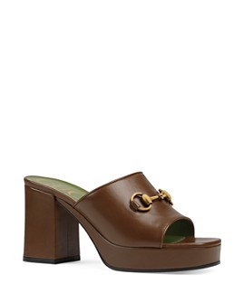Gucci - Women's Mid-Heel Platform Slide Sandals