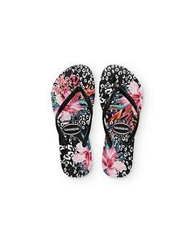 havaianas - Girls' Leopard & Floral Print Flip-Flops - Toddler, Little Kid