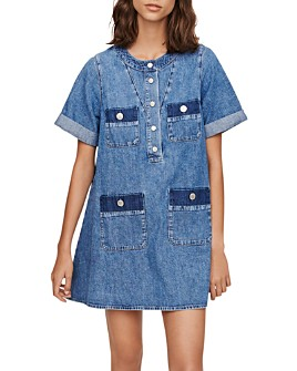 Maje - Rime Denim Shift Dress