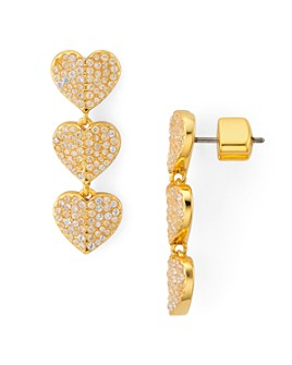 kate spade new york - Heart to Heart Pavé Triple Drop Earrings