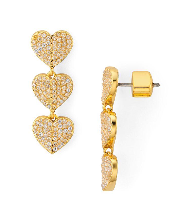 kate spade new york - Heart to Heart Pavé Triple Drop Earrings